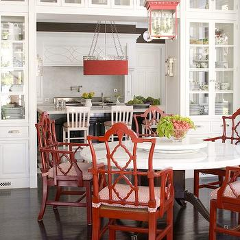 Pagoda Chairs, Contemporary, dining room, Windsor Smith Home