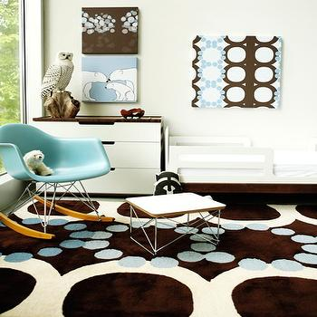 Turquoise Rocker, Contemporary, nursery