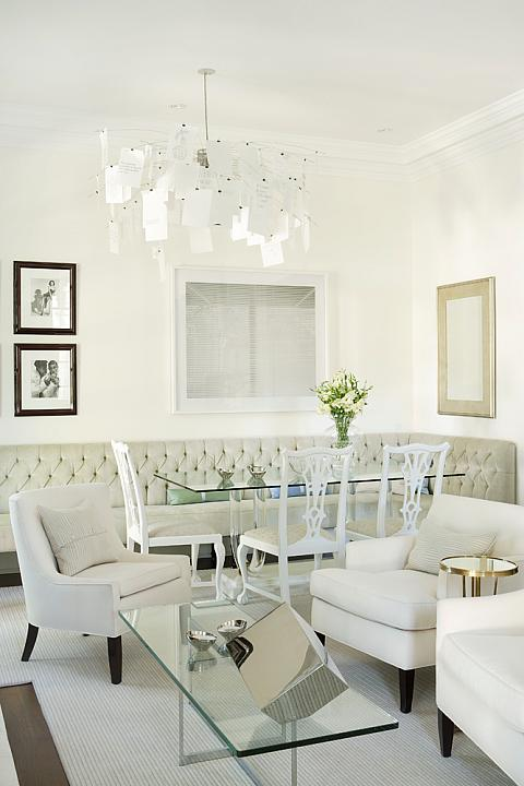 Tufted Dining Bench & Tufted Dining Bench - Transitional - dining room - Sarah Richardson ...