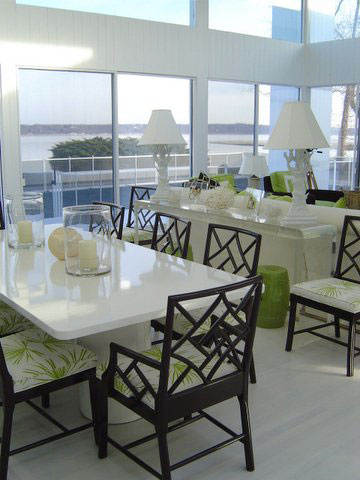 black lacquer dining room furniture. black green white modern dining room design lacquer furniture n