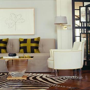 Armless Sofa, Contemporary, living room, Jan Showers