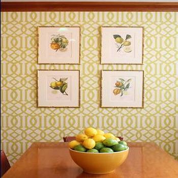 Kelly Wearstler Wallpaper, Contemporary, dining room, Daniel M Pafford