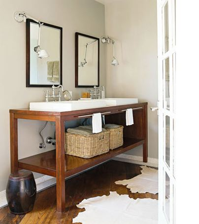 New  Thayer Bamboo Double Vessel Sink Vanity  Bathroom Vanities  Bathroom