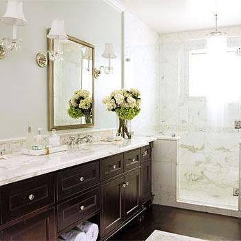 Calcutta Marble, Transitional, bathroom, House Beautiful