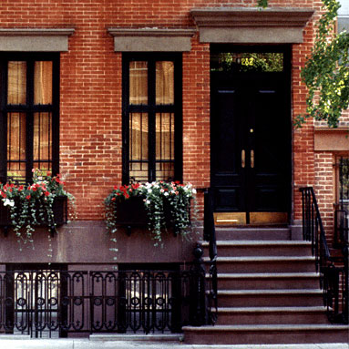 Row House Transitional Home Exterior