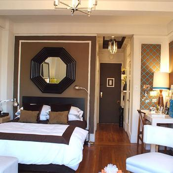 Octagon Mirror, Contemporary, living room, Ron Marvin
