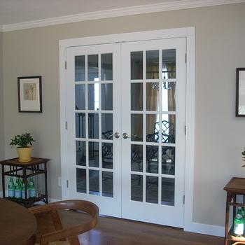 Taupe Paint, Contemporary, dining room, Benjamin Moore Grant Beige