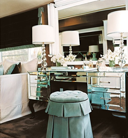 mirrored bedroom vanity. Mirrored Vanity  Transitional bedroom Traditional Home