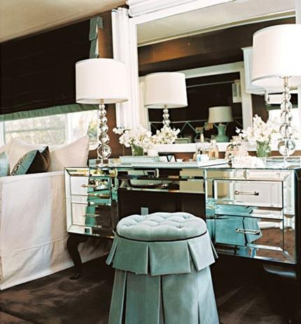 mirrored bedroom vanity. Mirrored Vanity  Transitional bedroom Traditional Home