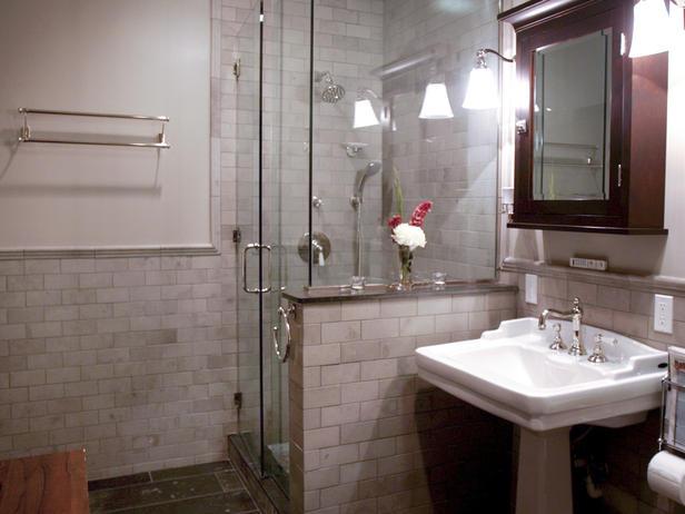 Mahogany medicine cabinet contemporary bathroom for Bathroom half wall tile