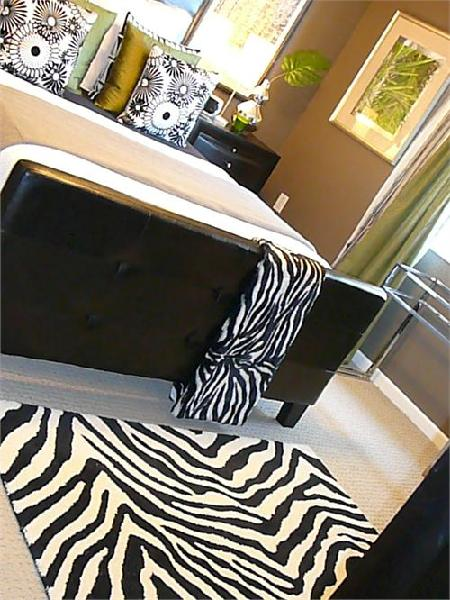 Zebra Rug Contemporary Bedroom Hgtv
