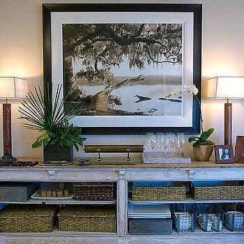 Whitewashed Sideboard, Cottage, dining room, HGTV
