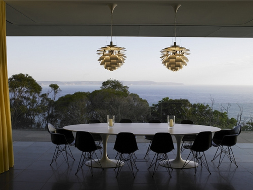 Saarinen Table And Artichoke Pendants