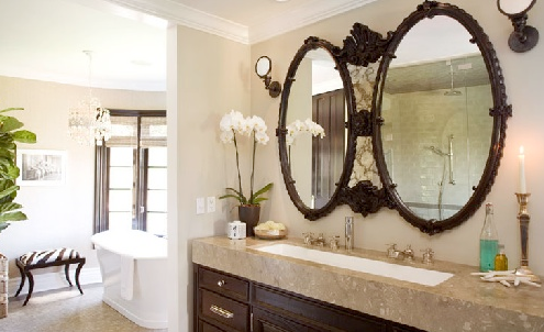 black bathroom mirrors design ideas, Home design