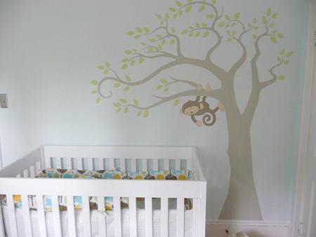 blue walls transitional nursery benjamin moore. Black Bedroom Furniture Sets. Home Design Ideas