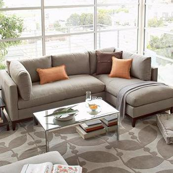 thompkins sectional, west elm