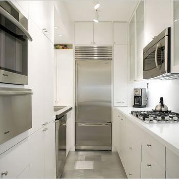 White Galley KItchen, Modern, kitchen
