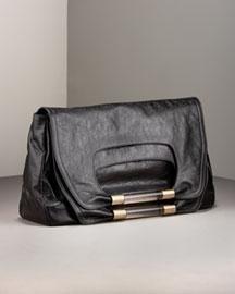 Chloe Nancy Large-Flap Clutch,  Premier Designer,  Neiman Marcus