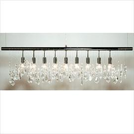 linear crystal chandelier. Linear Crystal Chandelier