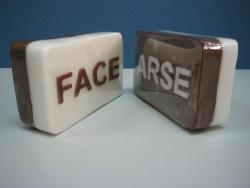 Arse/Face Soap, Lather lump, Only �?£3.95