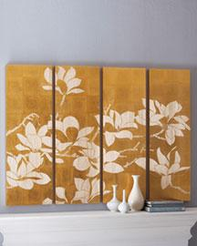 & Yellow Magnolia Wall Panels