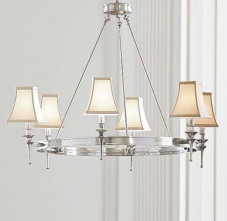 - Riley Antique Silver Chandelier
