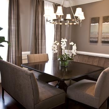 Taupe Paint, Contemporary, dining room, Sherwin Williams Spalding Gray, HGTV