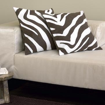zebra pillow cover west elm. Black Bedroom Furniture Sets. Home Design Ideas