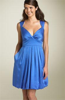 6d08d4b2963 Maggy London Hammered Blue Satin Dress