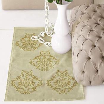 sale: vintage emblem chenille rugs-pear/citrus at brocadehome.com