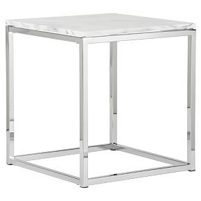 smart marble top side table shopping in CB2 accent tables