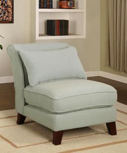 slipper sky blue armless chair view full size