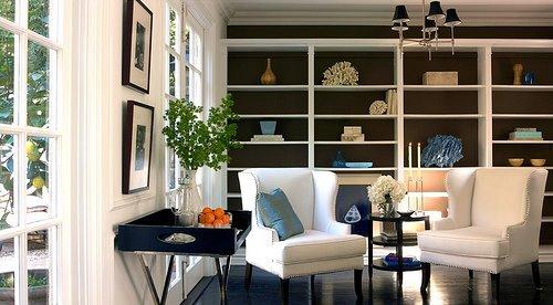 Sensational Painted Backsplash Contemporary Den Library Office Home Interior And Landscaping Fragforummapetitesourisinfo