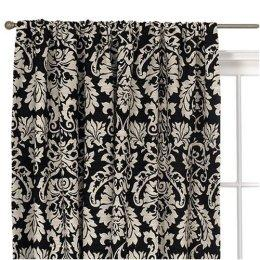 Damask Black And White Window Panel