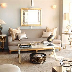 Mirrored Coffee Table Gold Trim Design Ideas
