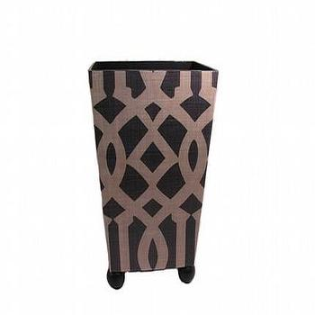 Etsy :: decorativeinstincts :: Imperial Trellis Wastebasket