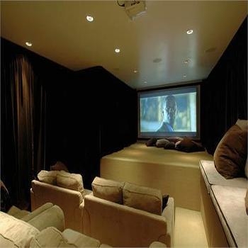 Home Theater, Contemporary, media room, HGTV