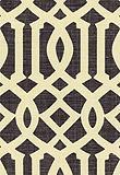 Schumacher, Fabric, Imperial Trellis, Parchment / Midnight