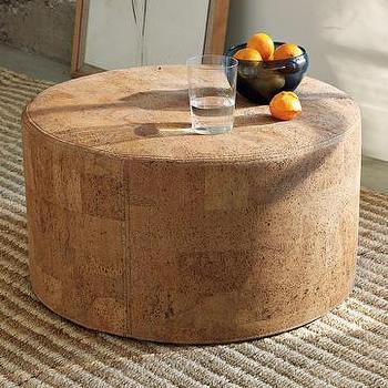 cork ottoman| west elm