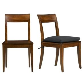 wooden dining chairs with cushion