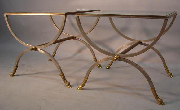 neoclassical hollywood regency side tables