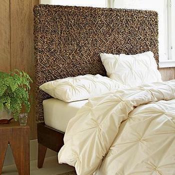 organic cotton pleated duvet cover + shams, west elm