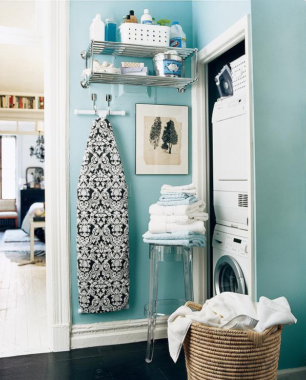 Tiffany Blue Wall Paint: Tiffany Blue Laundry Room