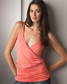 Ella Moss Luxe Cross-Back Top�?-�? Sleeveless�?-�? Neiman Marcus