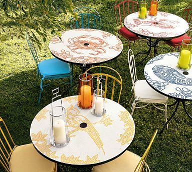 Mosaic Round Nature Bistro Table