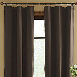 Solid Brown Polyester Window Drapes