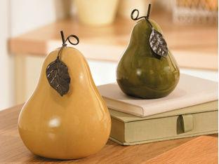 Green And Yellow Ceramic Pears