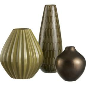 Green with Brown Vase