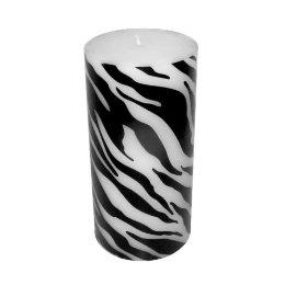 Set Of 3 White Drippy Wax Black Taper Candle