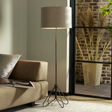 Black and beige wire base floor lamp keyboard keysfo Image collections